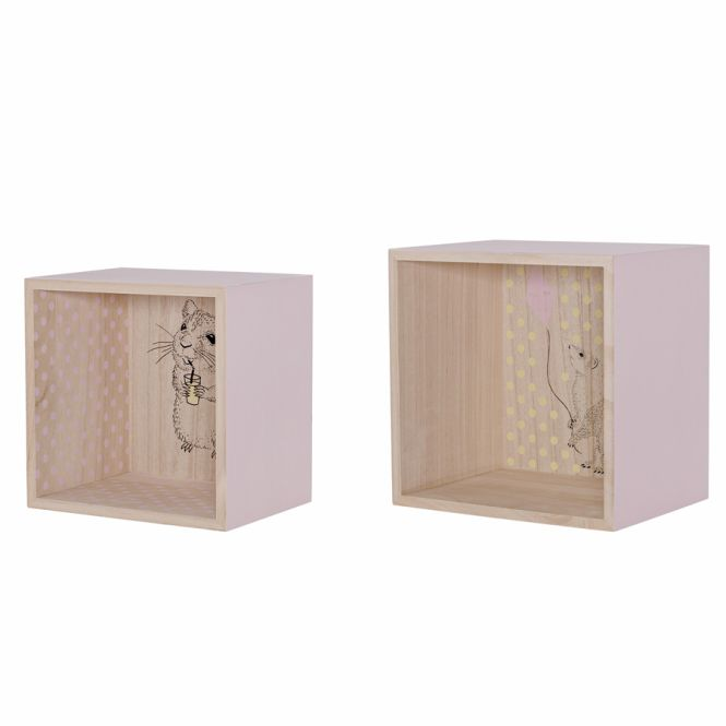bloomingville display boxen regal nude 2er set online kaufen emil paula kids. Black Bedroom Furniture Sets. Home Design Ideas