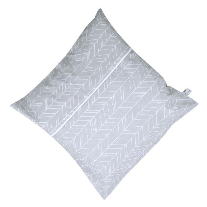 little dutch kissenh lle inkl inlett 40x40 grey leaves online kaufen emil paula kids. Black Bedroom Furniture Sets. Home Design Ideas