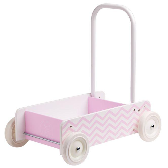 kids concept lauflernwagen mit bremse rosa online kaufen emil paula kids. Black Bedroom Furniture Sets. Home Design Ideas