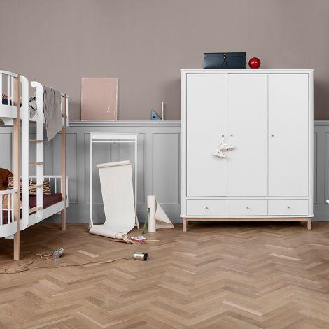oliver furniture wood kleiderschrank 3 t rig wei eiche online kaufen emil paula kids. Black Bedroom Furniture Sets. Home Design Ideas