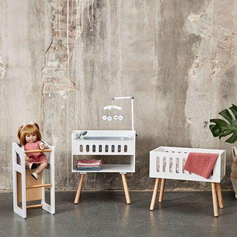 byASTRUP Puppen-Hochstuhl und Tisch 2 in 1