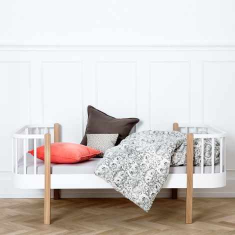 Oliver Furniture Junior- und Kinderbett Wood weiß mit Eiche