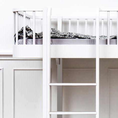 Oliver Furniture Etagenbett Wood Weiß - Leiter Vorne