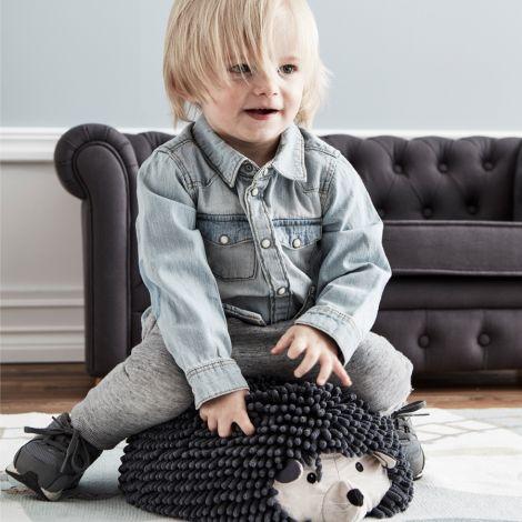 Kids Concept Hocker Igel Edvin Grau