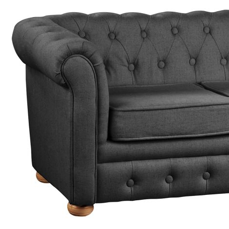 "Kids Concept Sofa ""Chesterfield"" Dunkelgrau"