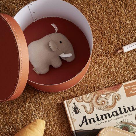 Kids Concept Aufbewahrungsbox Rund Braun 2er-Set