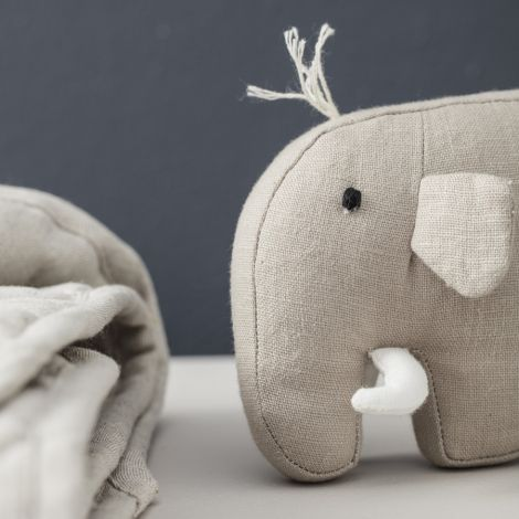 Kids Concept Kuscheltier Mammut Leinen