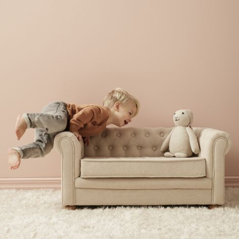 Kids Concept Kinder-Sofa Chesterfield Beige