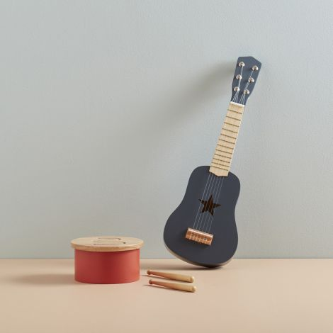 Kids Concept Gitarre Dunkelgrau Holz