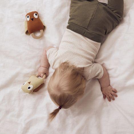 Kids Concept Rassel Eule Edvin Grün