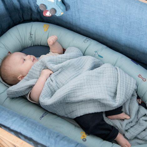 Sebra Baby-Decke Mist Blue