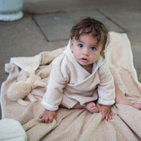 Koeka Bademantel Baby Dijon Sand Bio-Baumwolle