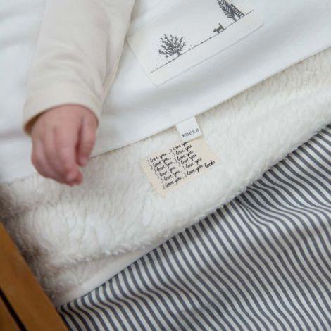 Koeka Babydecke Vienna Teddy Sparkle Grey/Natural •