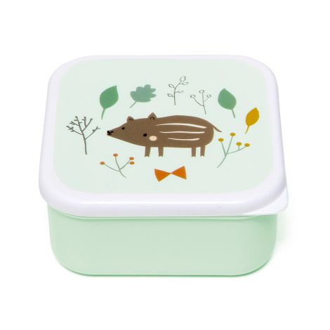 Petit Monkey Brotdose Lunchbox Set Forest Friends 3er-Set