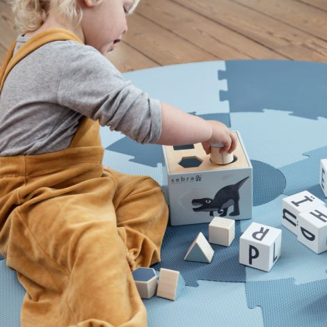 Sebra Formensteckspiel Holz Dino