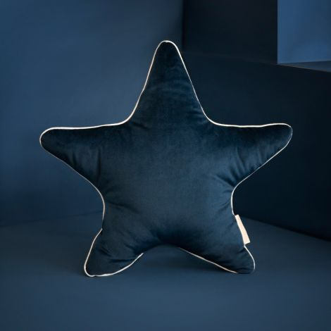 Nobodinoz Kissen Aristote Star Samt 40X40 Night Blue