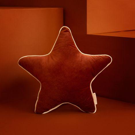 Nobodinoz Kissen Aristote Star Samt 40X40 Wild Brown