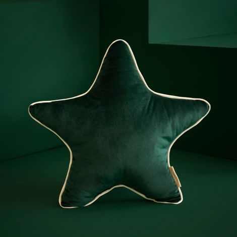 Nobodinoz Kissen Aristote Star Samt 40X40 Jungle Green