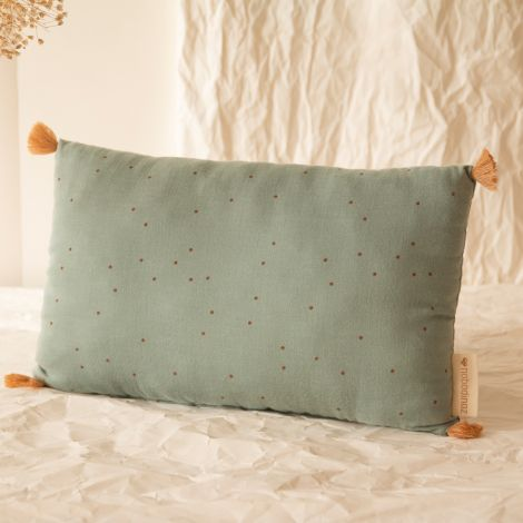 Nobodinoz Kissen Sublim 20X35 Toffee Sweet Dots/ Eden Green