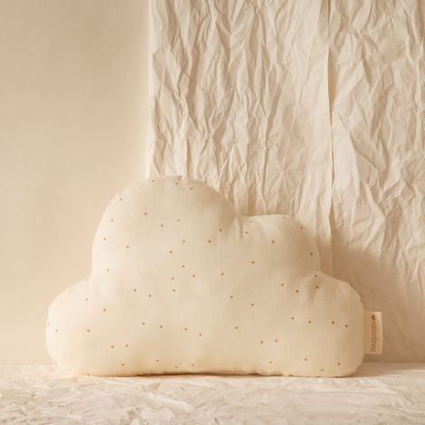 Nobodinoz Kissen Cloud 24X38 Honey Sweet Dots Natural