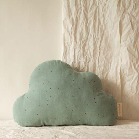 Nobodinoz Kissen Cloud 24X38 Toffee Sweet Dots/ Eden Green