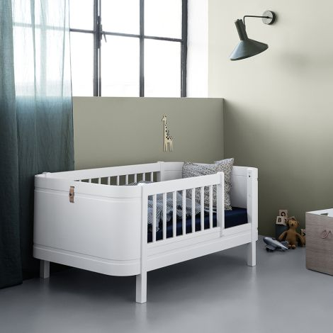 Oliver Furniture Baby- und Kinderbett Wood Mini+ Weiß