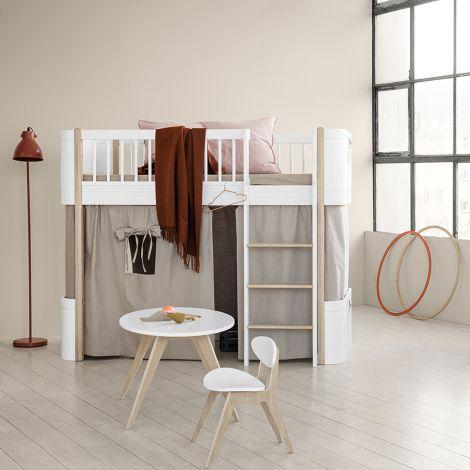 Oliver Furniture halbhohes Hochbett Wood Mini+ Weiß/Eiche