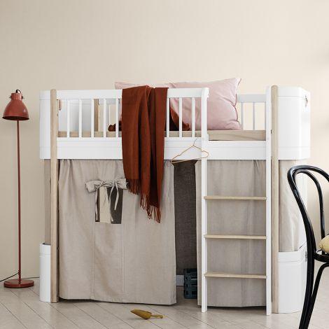 Oliver Furniture Vorhang für halbhohes Hochbett Wood Mini+ Rosa