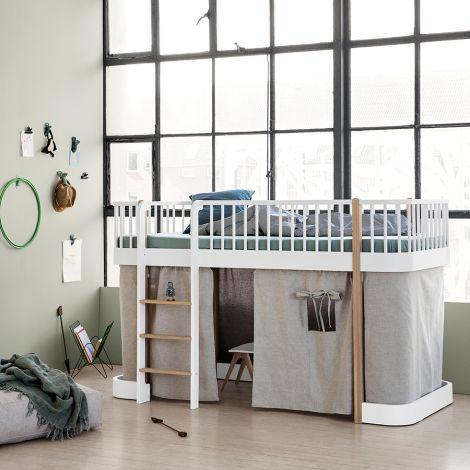 Oliver Furniture Vorhang für halbhohes Hochbett Wood Natur