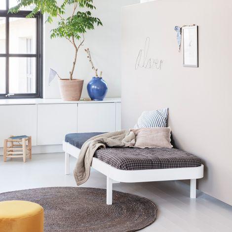 Oliver Furniture Bett Wood Lounger 90 x 200 Weiß