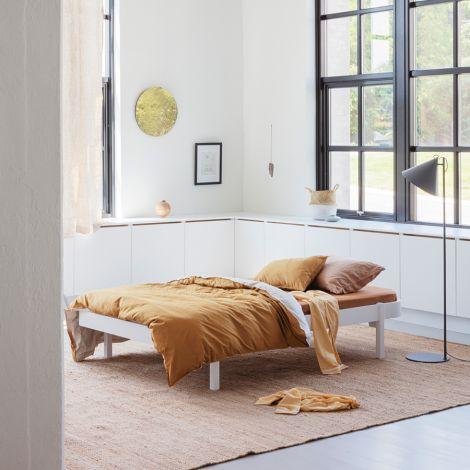 Oliver Furniture Bett Wood Lounger 120 x 200  Weiß