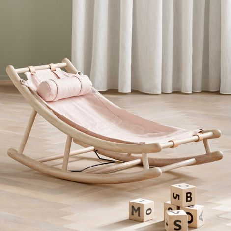 Oliver Furniture Kleinkindwippe Wood Eiche/Rosa