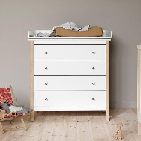Oliver Furniture Wickelkommode Wood 4 Schubladen