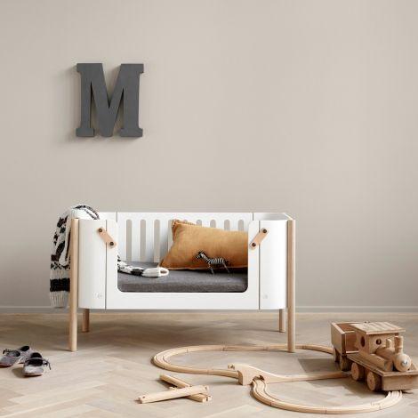 Oliver Furniture Wood Bank Weiß/Eiche