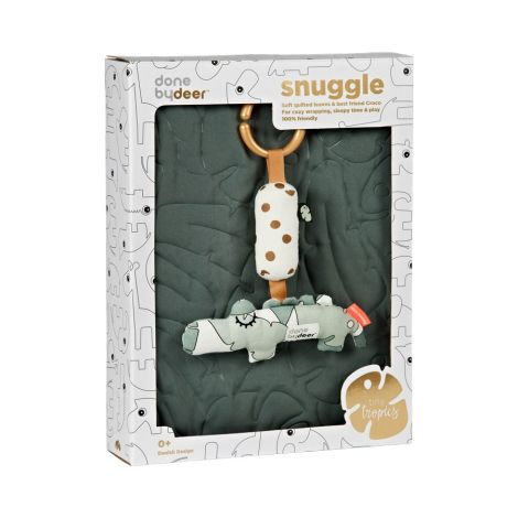 Done by Deer Decke Quilt & Croco Spielzeug Tiny Tropics 2er-Set