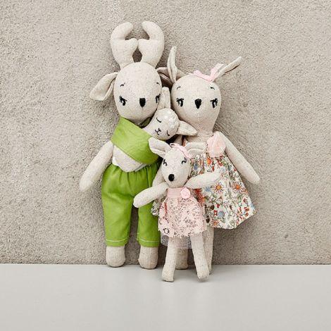 byASTRUP Puppen-Set Reh Familie 4-teilig