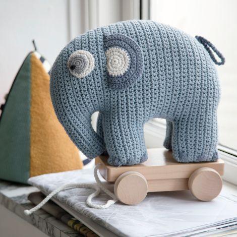Sebra Häkel-Nachziehtier Fanto der Elefant Powder Blue