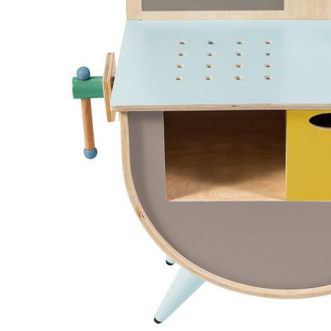 Sebra Spielzeug-Werkbank Warm Grey •