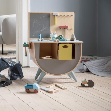 Sebra Werkzeug-Set Warm Grey Holz