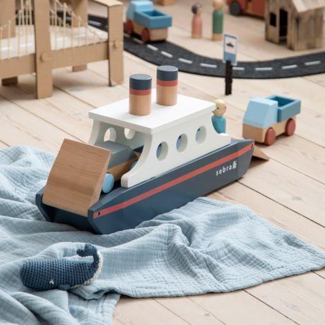 Sebra Schiff aus Holz