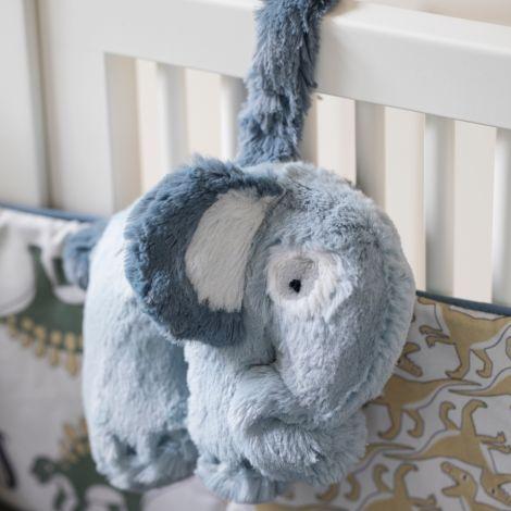 Sebra Plüsch-Spieluhr Elephant Wolkenblau •