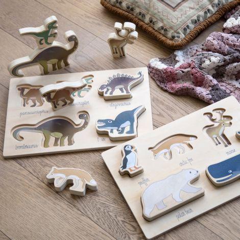 Sebra Puzzle aus Holz Dino