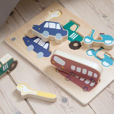 Sebra Holz-Puzzle Little Driver •