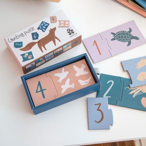 Sebra Puzzle mit Zahlen 1-10