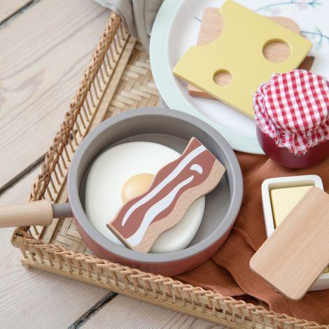Sebra Frühstück aus Holz 6-teilig