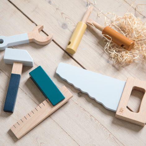 Sebra Werkzeug-Set aus Holz Jetty Grey 6-teilig