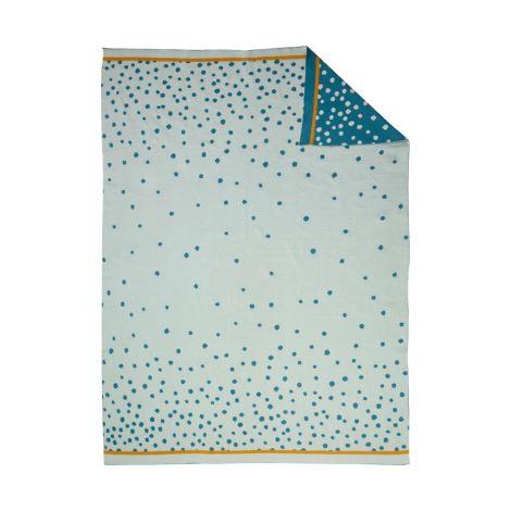Done by Deer Decke Strick Happy Dots Blue