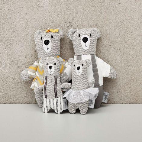 byASTRUP Puppen-Set Bär Familie 4-teilig