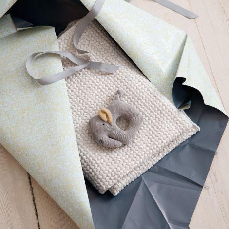 Sebra Geschenk-Set Babydecke & Rassel Dune Beige 2er-Set