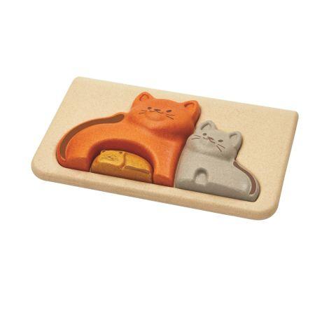 PlanToys Puzzle Katzen •
